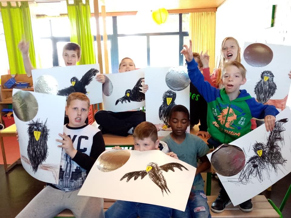 Thema \'Vogels\' in de lichtgroene klas